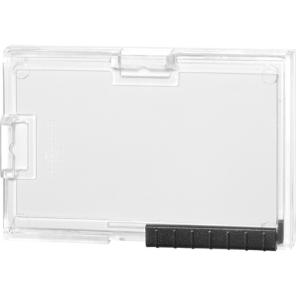 DURABLE Ausweishalter PUSHBOX MONO, transparent
