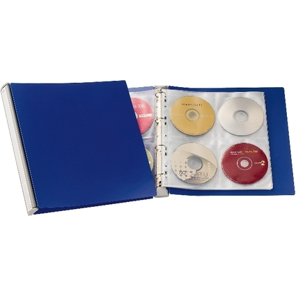 DURABLE CD-/DVD-Album 96, Ringbuch, PP, blau / silber