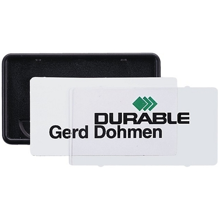DURABLE Namensschild Clip-Card, mit Kombiklemme, 75 x 40 mm