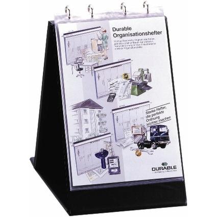 DURABLE Tisch-Flipchart, A4 hoch, schwarz, inkl. 10 Hüllen
