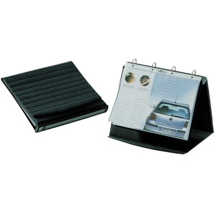 DURABLE Tisch-Flipchart, A4 quer, schwarz, inkl. 10 Hüllen