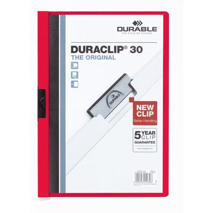 DURABLE Klemmhefter DURACLIP ORIGINAL 30, DIN A4, rot