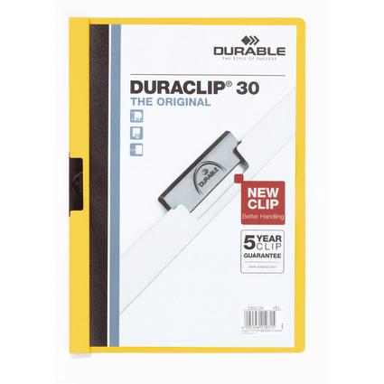 DURABLE Klemmhefter DURACLIP ORIGINAL 30, DIN A4, gelb