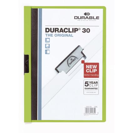 DURABLE Klemmhefter DURACLIP ORIGINAL 30, DIN A4, grün