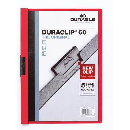 DURABLE Klemmhefter DURACLIP ORIGINAL 60, DIN A4, rot