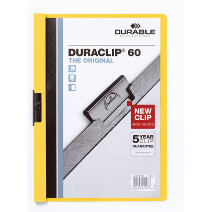 DURABLE Klemmhefter DURACLIP ORIGINAL 60, DIN A4, gelb
