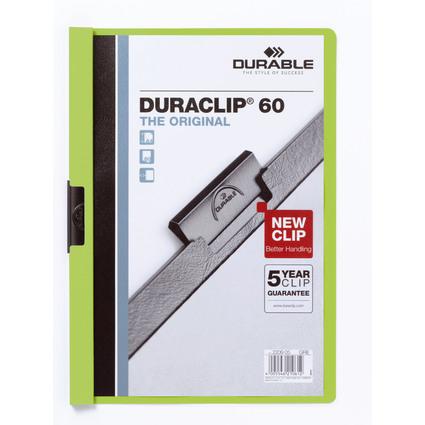 DURABLE Klemmhefter DURACLIP ORIGINAL 60, DIN A4, grün