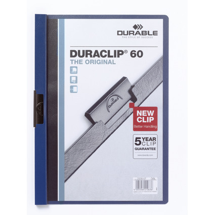 DURABLE Klemmhefter DURACLIP ORIGINAL 60, DIN A4, dunkelblau