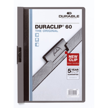 DURABLE Klemmhefter DURACLIP ORIGINAL 60, DIN A4, anthrazit