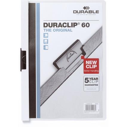 DURABLE Klemmhefter DURACLIP ORIGINAL 60, DIN A4, weiß