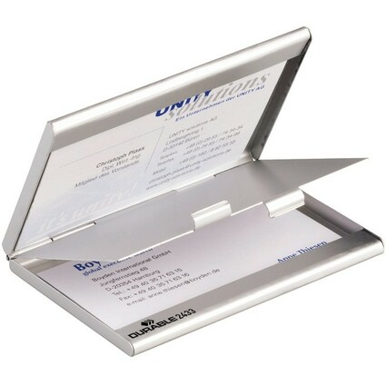 DURABLE Visitenkarten-Etui BUSINESS CARD BOX DUO, mattsilber
