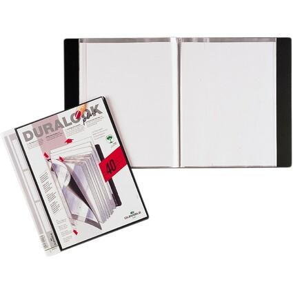 DURABLE Sichtbuch DURALOOK Plus, mit 40 Sichthüllen, schwarz