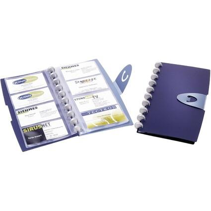 DURABLE Visitenkarten-Ringbuch DURALOOK VISIFIX Walk!, blau