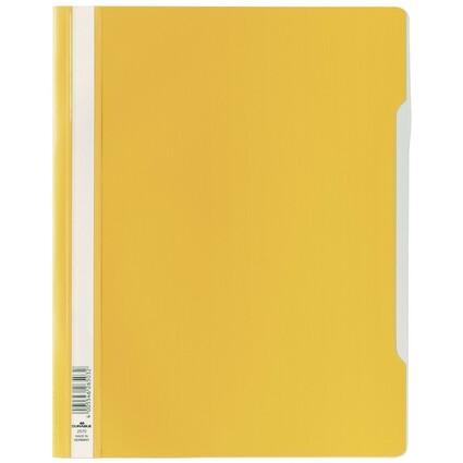 DURABLE Schnellhefter, DIN A4, aus Hartfolie, gelb