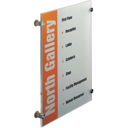 DURABLE Türschild CRYSTAL SIGN, (B)297 x (H)420 mm