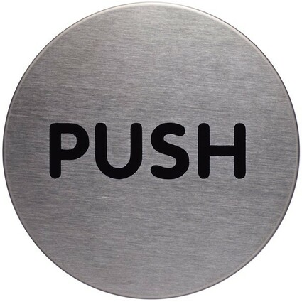 "DURABLE Pictogramm ""Push"", Durchmesser: 65 mm, silber"
