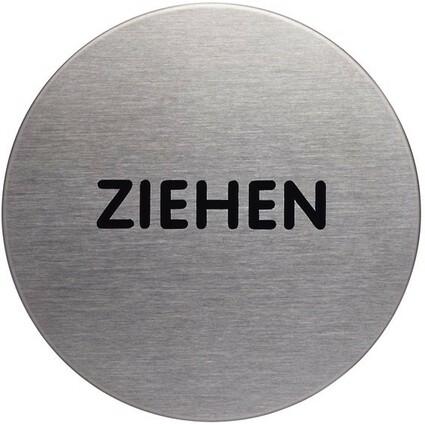 """DURABLE Piktogramm """"Ziehen"""", Durchmesser: 65 mm, silber"""