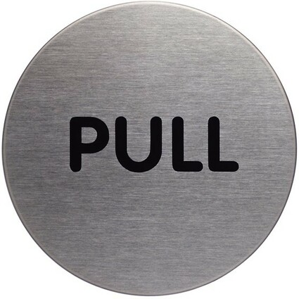 "DURABLE Pictogramm ""Pull"", Durchmesser: 65 mm, silber"