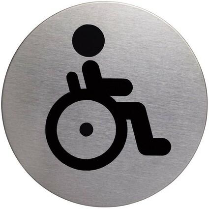 """DURABLE Piktogramm """"Behinderten-WC"""", Durchmesser: 83 mm"""