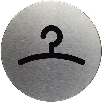 """DURABLE Piktogramm """"Garderobe"""", Durchmesser: 83 mm, silber"""