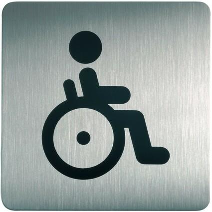 """DURABLE Piktogramm PICTO """"WC Behindert"""", quadratisch"""