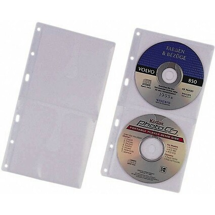 DURABLE CD-/DVD-Hülle COVER S, für 2 CD's, PP, 156 x 288 mm