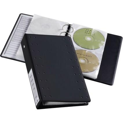 """DURABLE CD-/DVD-INDEX Ringbuch 20, für 20 CD""""s, anthrazit"""