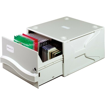 "DURABLE Archivsystem MULTIMEDIA BOX II, für 53 CD""s / DVD""s"