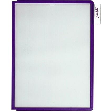 DURABLE Sichttafel SHERPA, DIN A4, Rahmen: blau-violett
