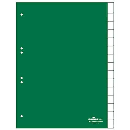 DURABLE Kunststoff-Register, PP, Stärke: 0,12 mm, 15-teilig