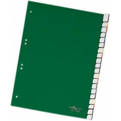 DURABLE Kunststoff-Register, PP, Stärke: 0,12 mm, 20-teilig