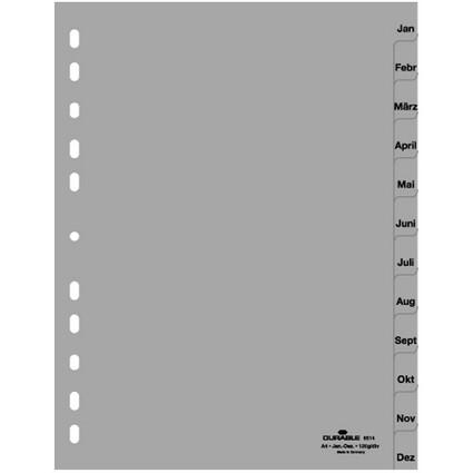 DURABLE Kunststoff-Register, Monate, A4, Januar - Dezember