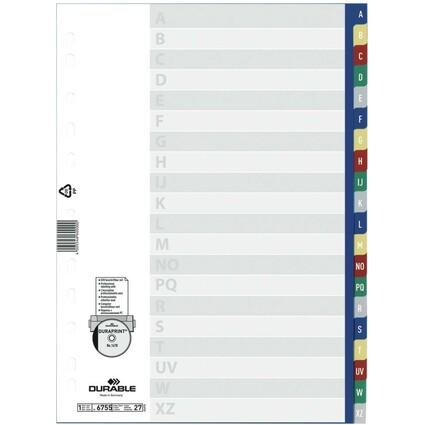 DURABLE Kunststoff-Register, A-Z, A4, PP, 20-teilig