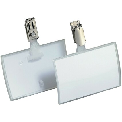 DURABLE Namensschild Click Fold, mit Clip, 90 x 54 mm