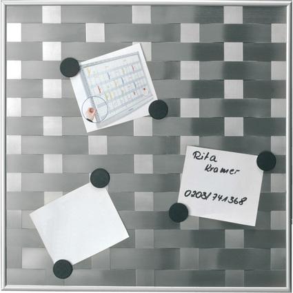 """FRANKEN Magnettafel """"Matrixboard"""", 475 x 475 mm, silber"""