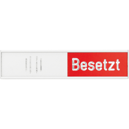 """FRANKEN Hinweisschild """"Frei-Besetzt"""", (B)102 x (H)27,4 mm"""