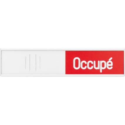 """FRANKEN Hinweisschild """"Libre-Occupe"""", (B)102 x (H)27,4 mm"""