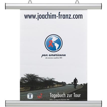 FRANKEN Plakatleiste, Aluminium, silber, Länge: 425 mm