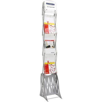 FRANKEN Faltbarer Prospektständer, 3x DIN A4, Höhe: 1.625 mm