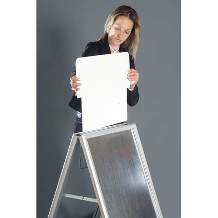 FRANKEN Topschild/Aufsatz für Kundenstopper BSA1, weiß