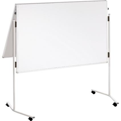 FRANKEN Moderationstafel ECO, 2x 750x1.200 mm, Karton, weiß