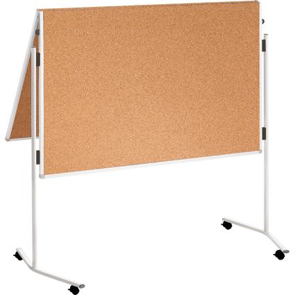 FRANKEN Moderationstafel ECO, 2x 750 x 1.200 mm, Kork braun