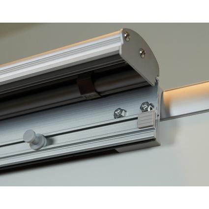 FRANKEN Flipchart Blockhalter magnetisch, 55 x 700 mm