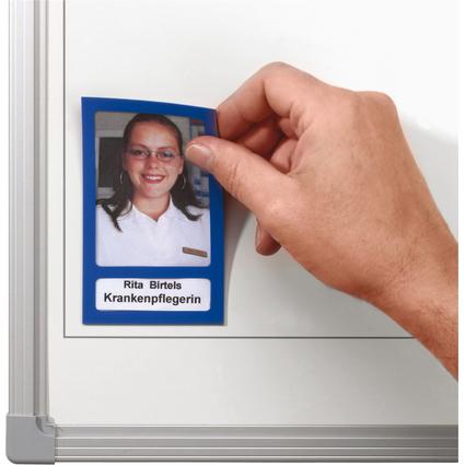 FRANKEN Magnet-Sichttasche, 72 x 115 mm, magnethaftend, grau