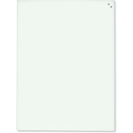 FRANKEN Glas-Magnettafel, (B)600 x (H)800 mm, weiß