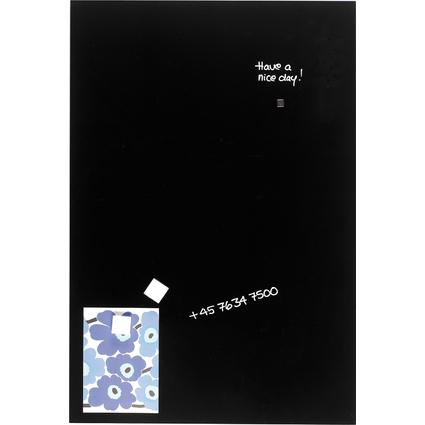 FRANKEN Glas-Magnettafel, (B)600 x (H)800 mm, schwarz