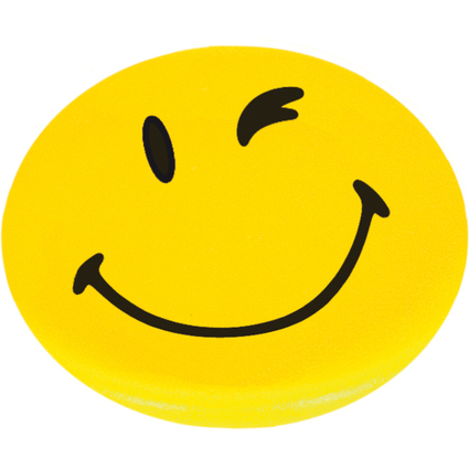 "FRANKEN Happy Magnet ""Smilie"", Haftkraft: 300 g, rund"