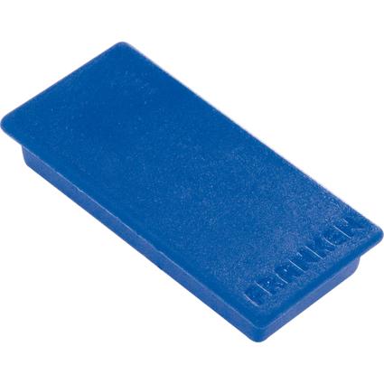 FRANKEN Haftmagnet, Haftkraft: 1.000 g, 50 x 23 mm, blau