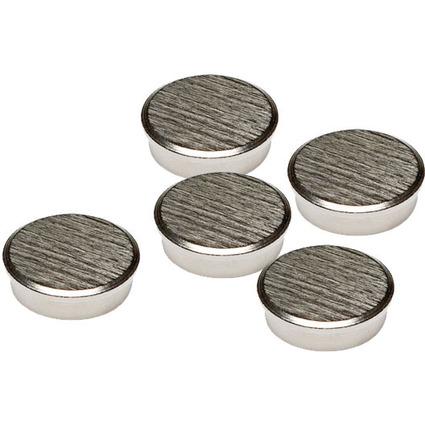 FRANKEN Chrom-Haftmagnet, Haftkraft: 2.000 g, Durchm. 16 mm