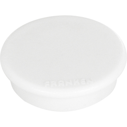 FRANKEN Haftmagnet, Haftkraft: 300 g, Durchm. 24 mm, weiß